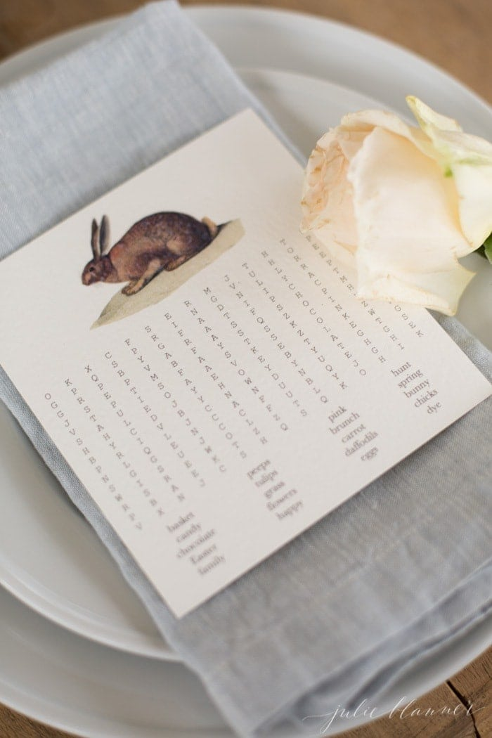 Easter entertaining | free printable Easter word search