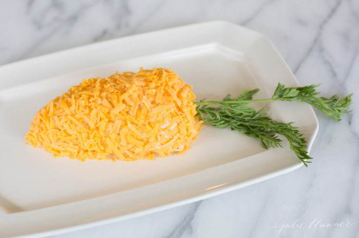 Easter brunch recipe - easy carrot shaped cheese ball