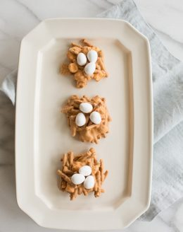 easy no bake Easter cookies - adorable spring egg nests