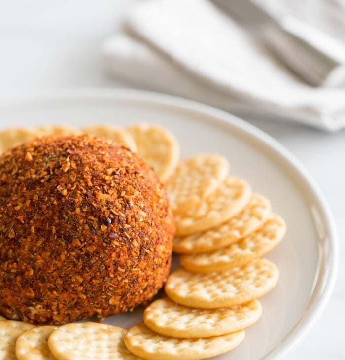easy 3 ingredient cheese ball recipe, great for last minute get togethers