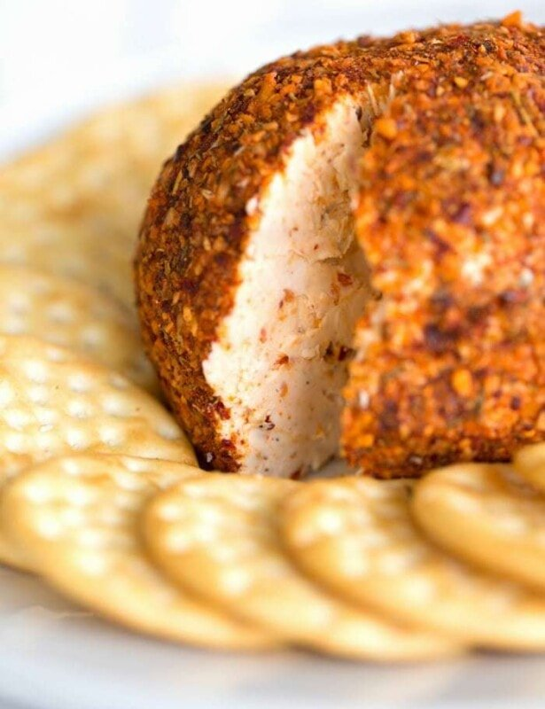 the best cheese ball recipe - easy 3 ingredient santa fe cheese ball