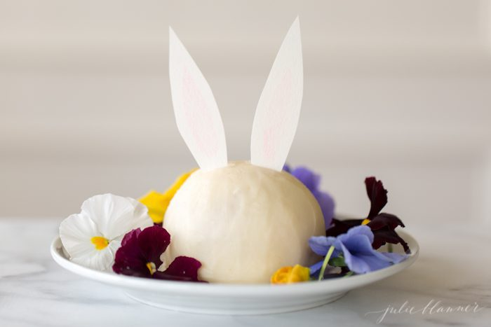 bunny carrot cake cheese ball recipe - cute Easter dessert idea