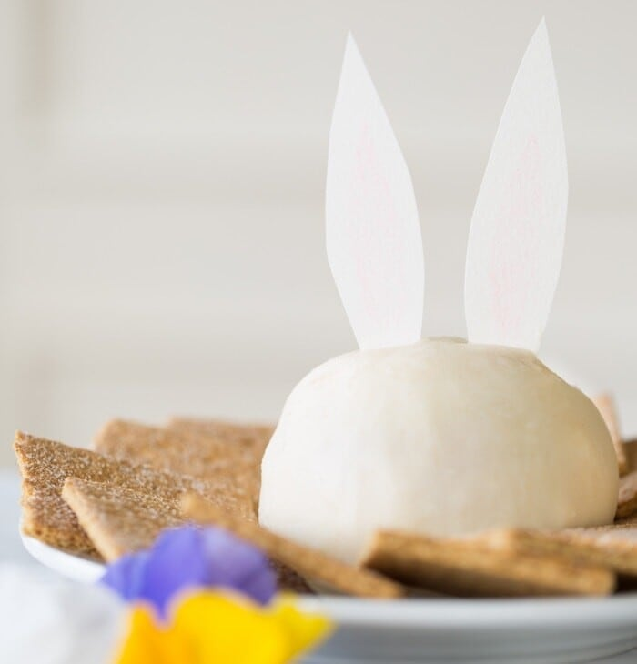 bunny carrot cake cheese ball recipe - cute Easter dessert idea