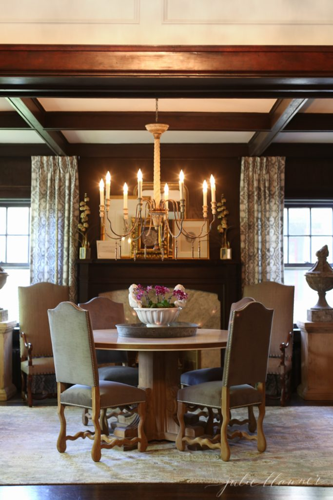 traditional dining room | old house traditional finishes and modern decor