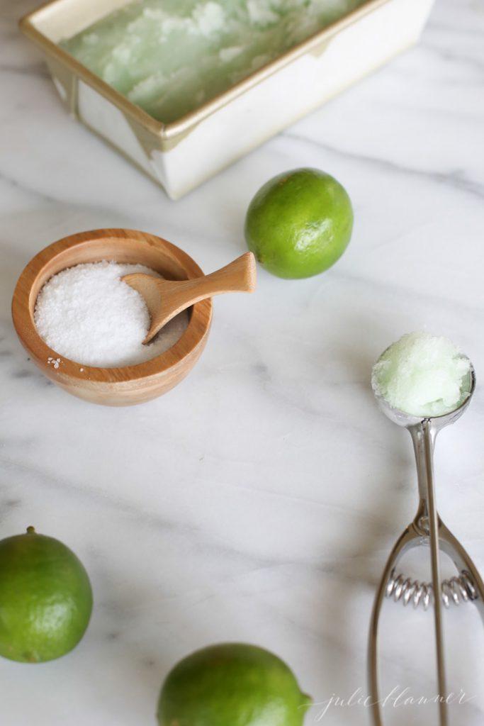 how to make lime sorbet