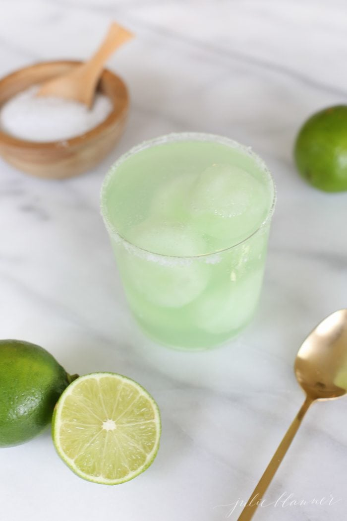Easy margarita float - one of this summer's ice cream cocktails you won't want to miss. A refreshing summer drink recipe perfect for any occasion.