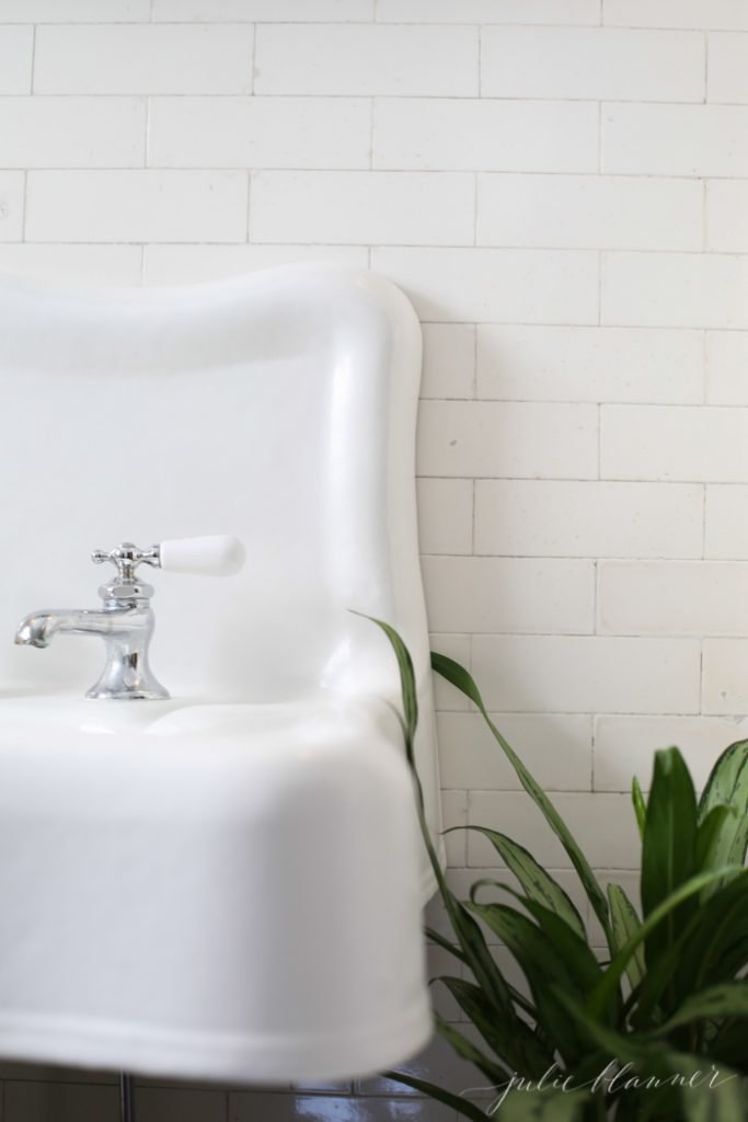 10 things I learned from this old house - porcelain sink and subway tile