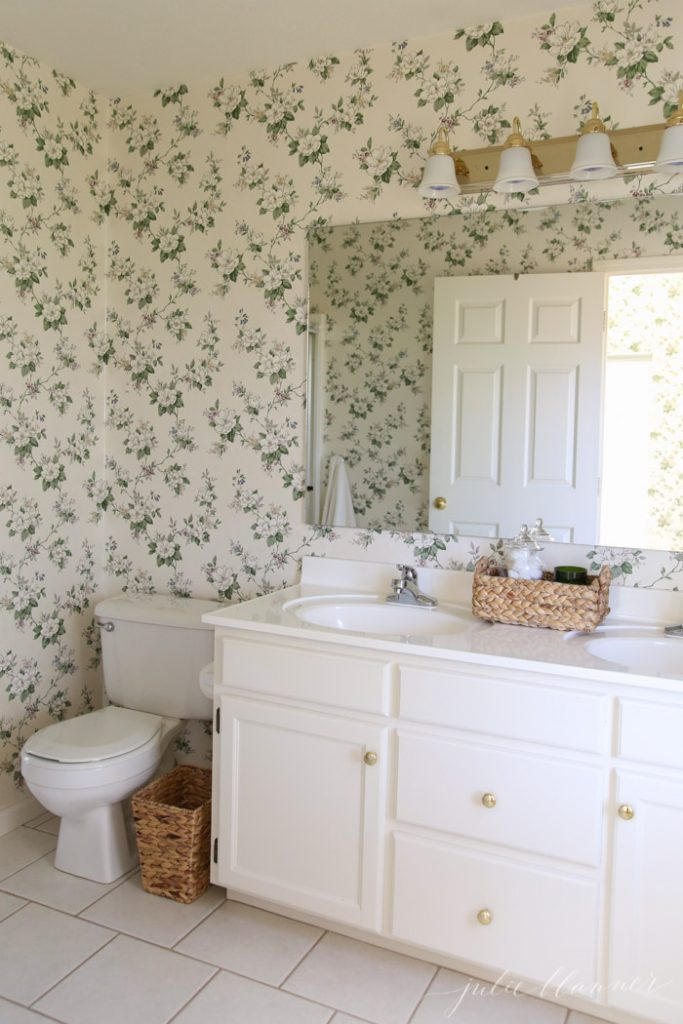 bow to make a dated bathroom feel up to date without spending a lot of money
