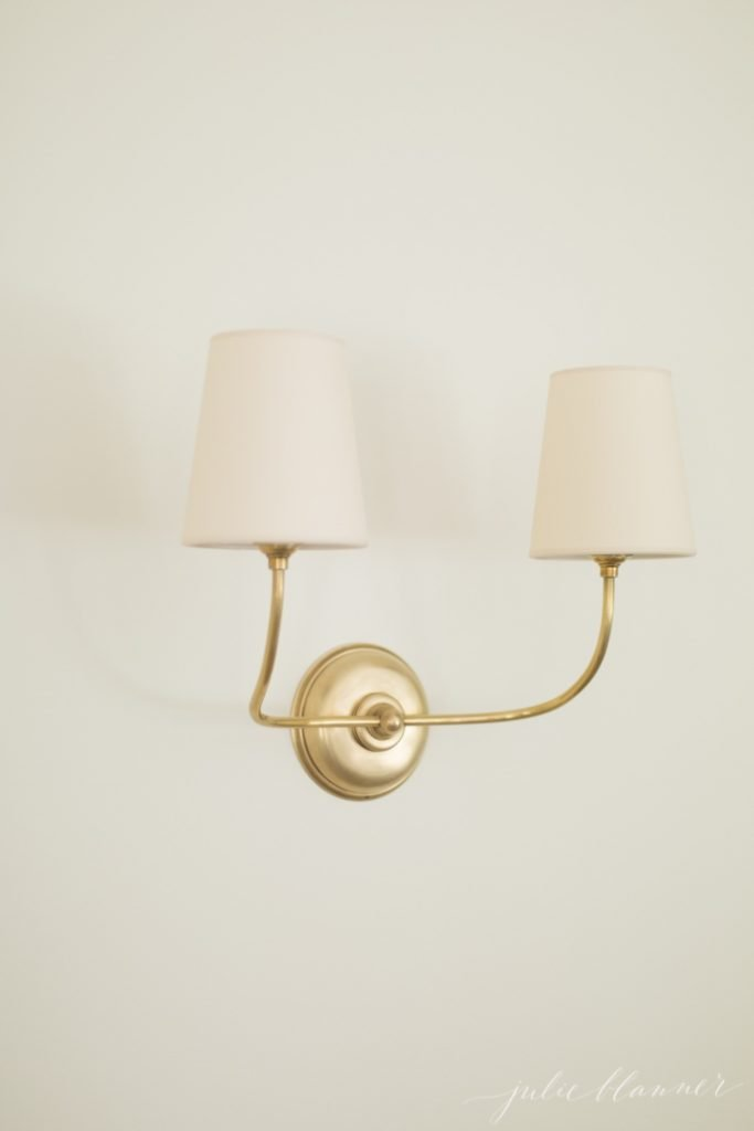 beautiful brass sconce cottage lighting