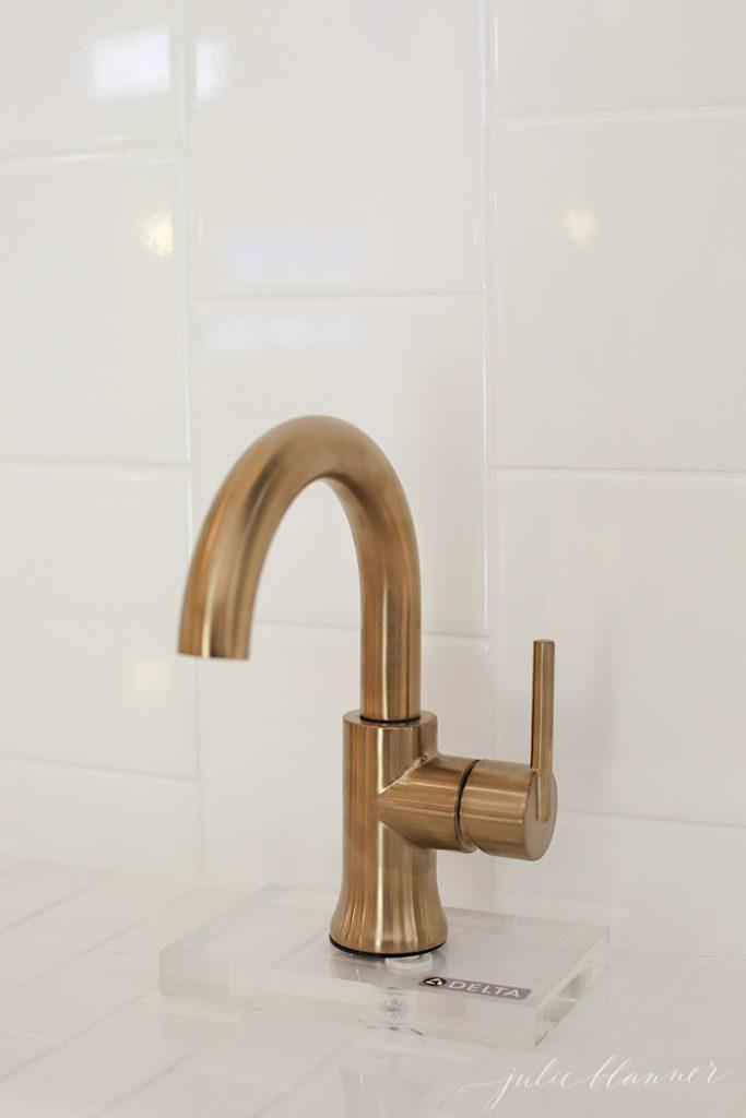 Delta Brand faucet champagne bronze faucet