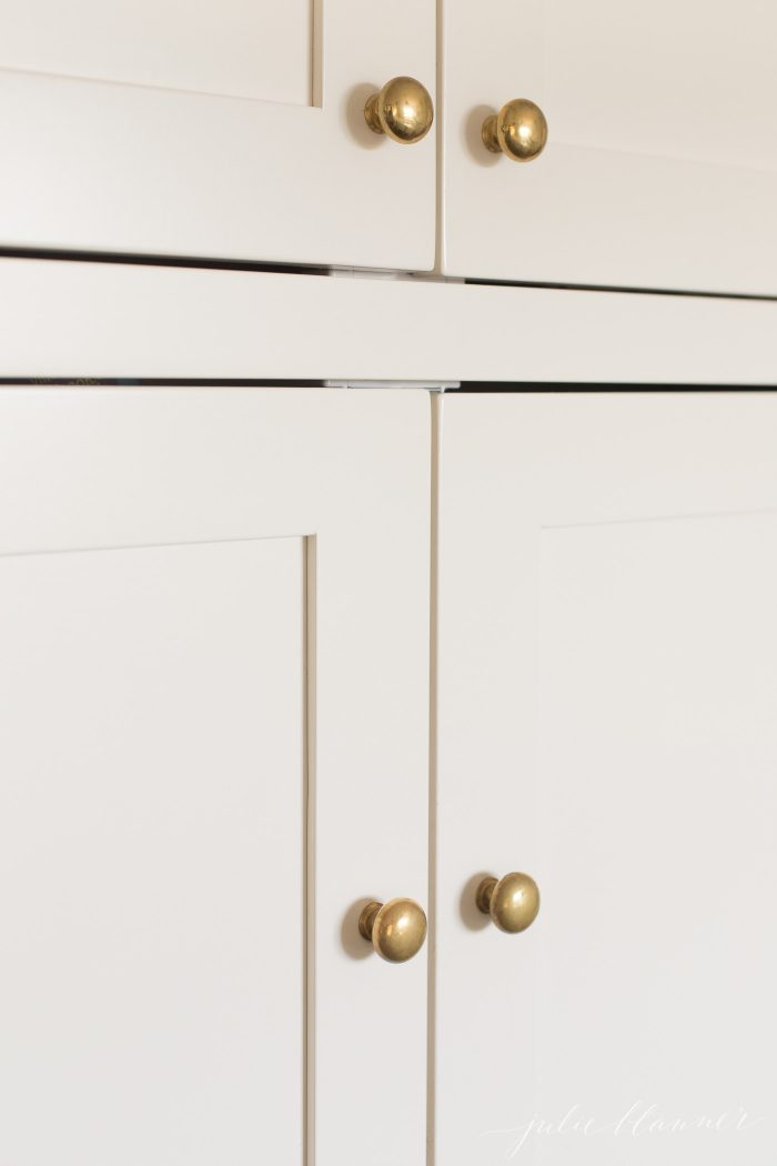 unlacquered brass knobs