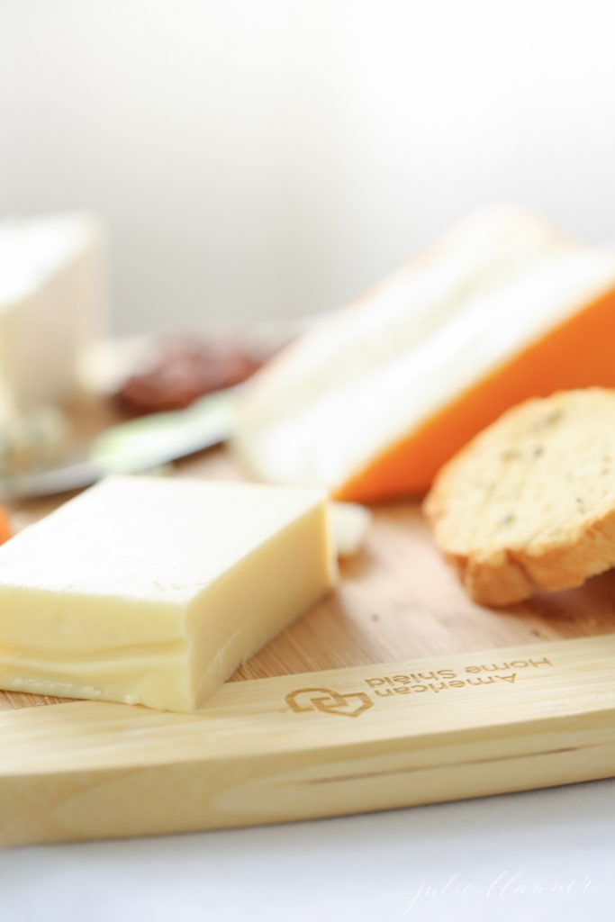 summer party ideas - a simple cheese board