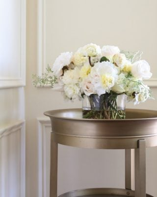how to create a simple centerpiece for wedding, shower, and more!