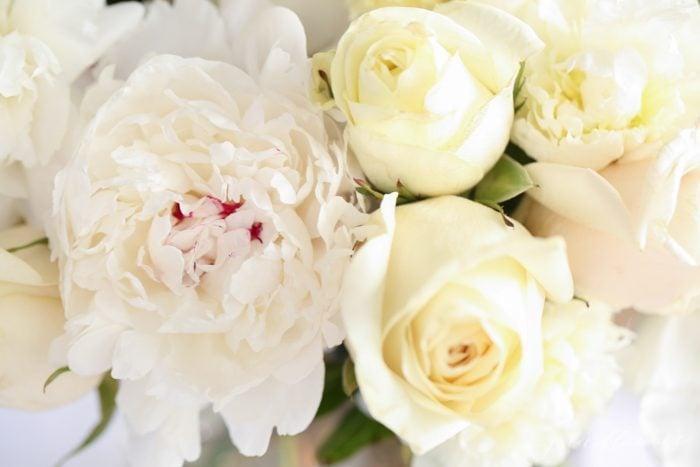 peony and rose centerpiece tutorial