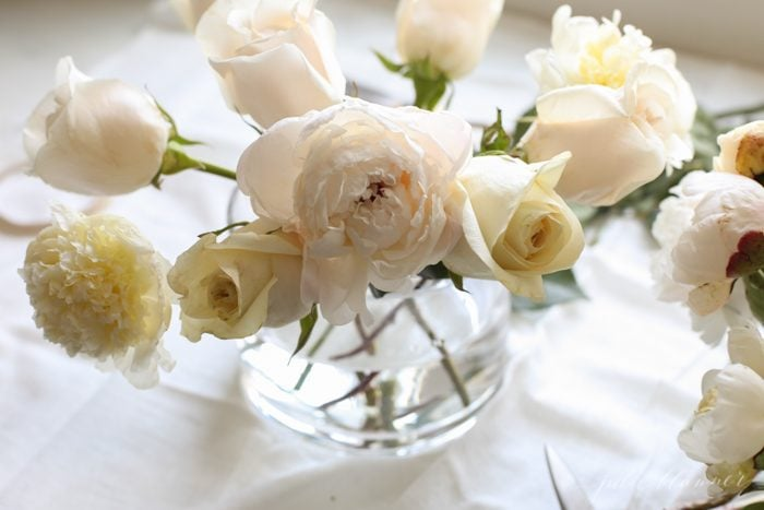 learn how to arrange flowers with this simple centerpiece tutorial
