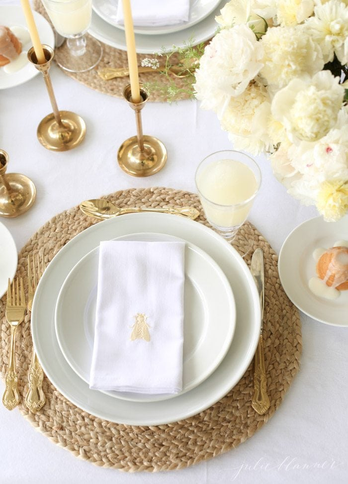 summer table setting pictures