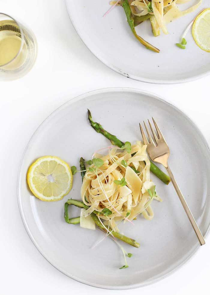 lemon asparagus pasta recipe for summer