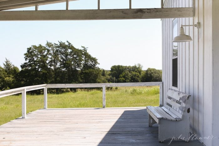 farmhouse deck - outdoor living