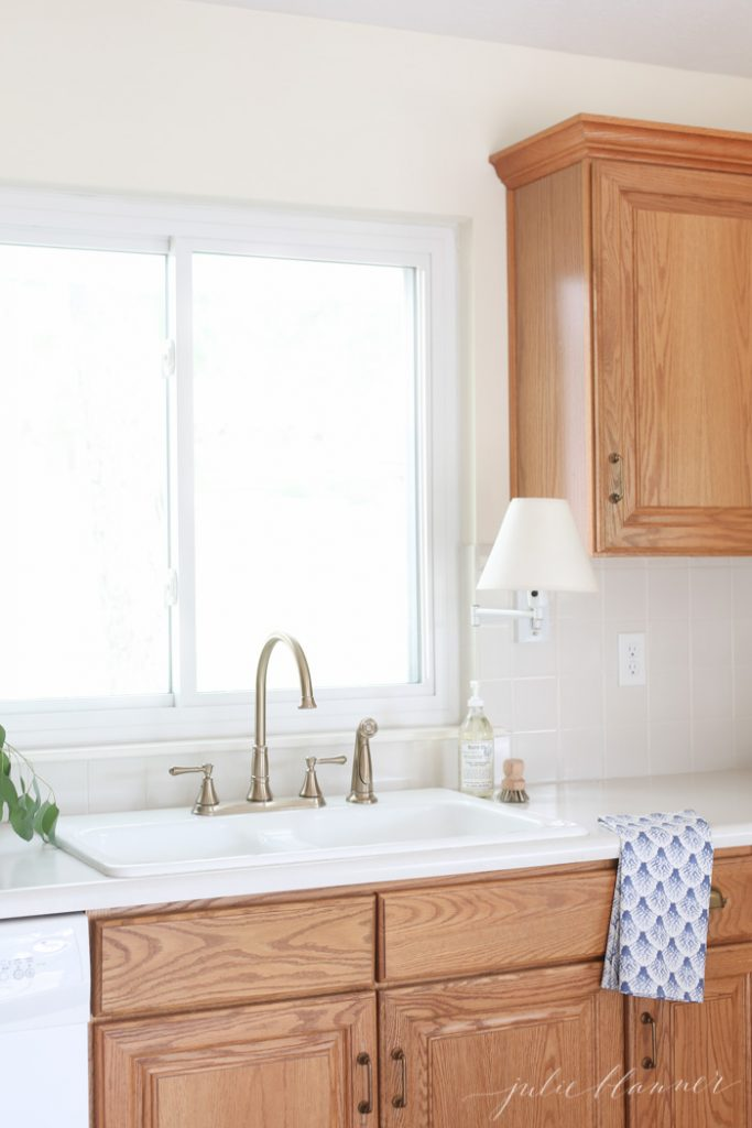 how to update a kitchen on a budget without painting the cabinets