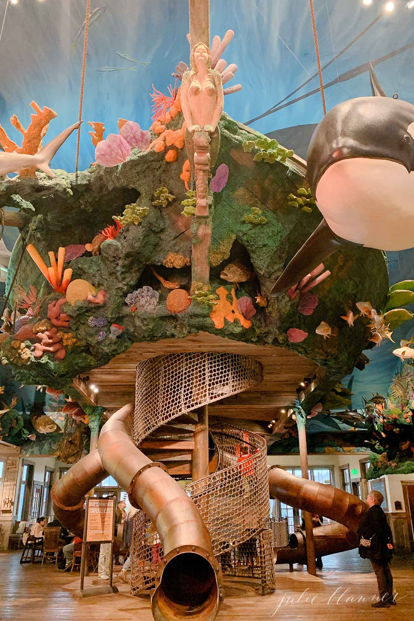 An adventure park ship in a post of things to do in branson, Missouri.