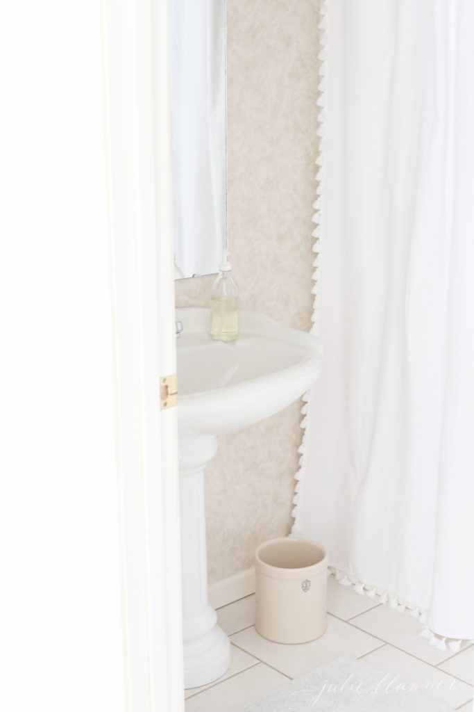 how to make a bathroom feel light, bright and up to date
