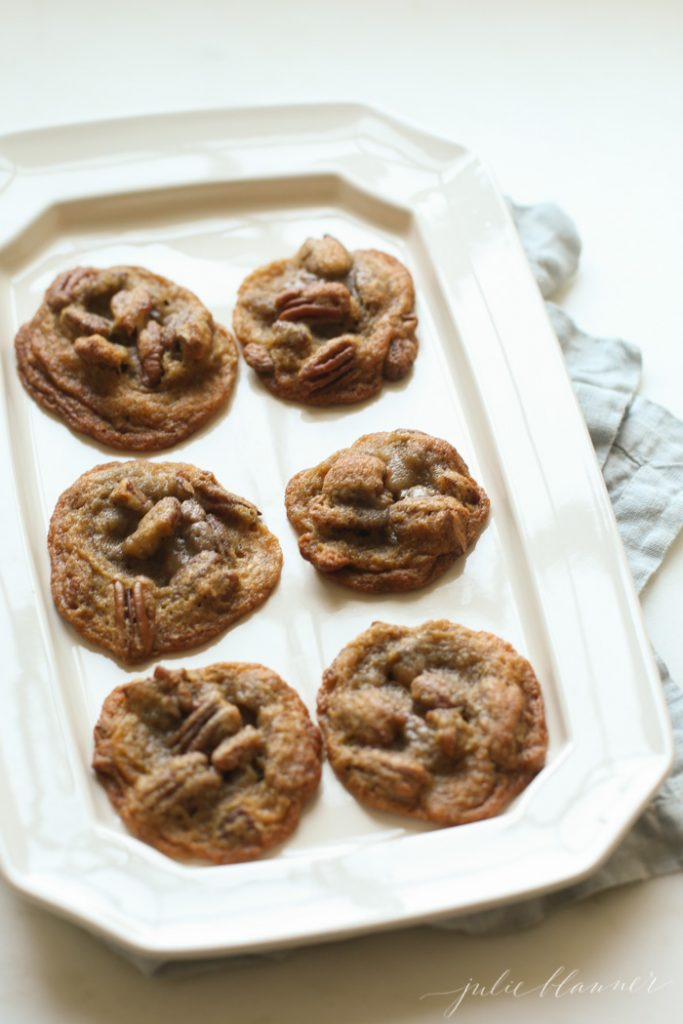 thin, chewy, cookies that taste better than pecan pie