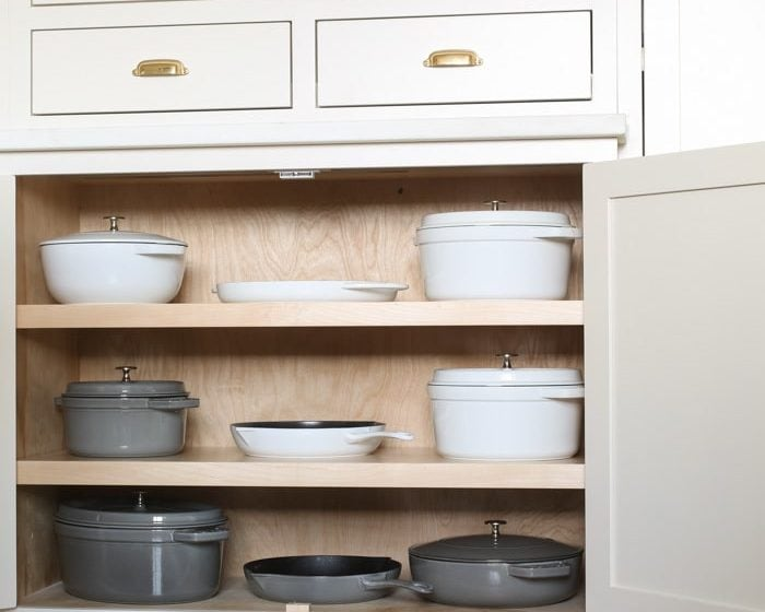 beautiful pots and pans organization ideas