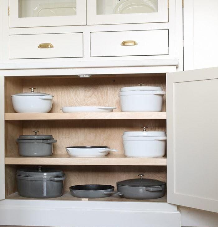 beautiful pots and pans organization ideas
