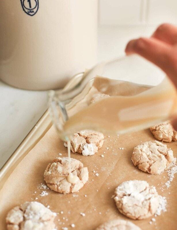 apple pie spice cookies with apple cider glaze