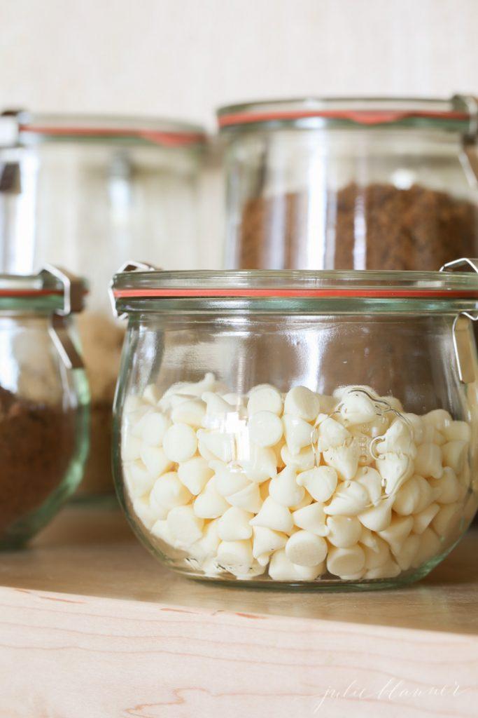 organized baking supplies