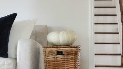 natural fall decorations | heirloom pumpkin accent