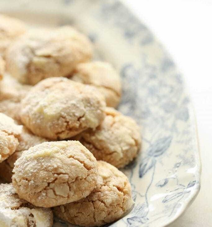 the classic crinkle cookie recipe with brown butter