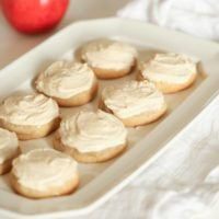 frosted apple butter sugar cookies