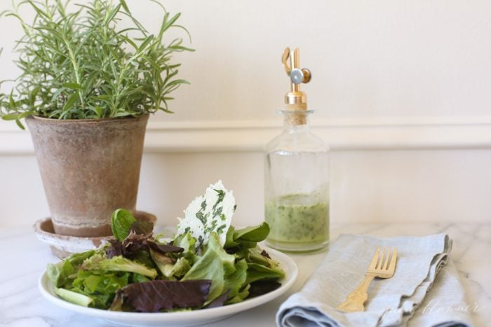 add flavor to salad with herb vinaigrette