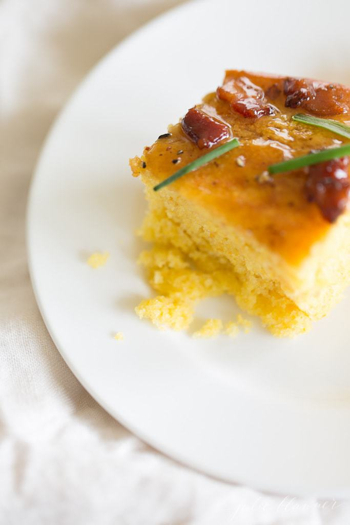 homemade sweet and savory cornbread recipe with maple butter
