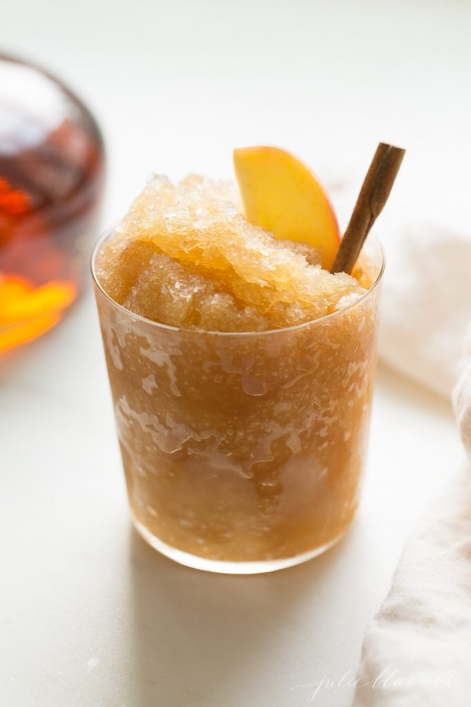 2 ingredient apple cider bourbon slush recipe
