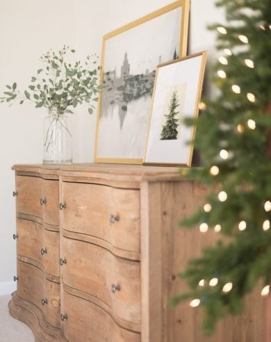 decorating indoors with Christmas lights