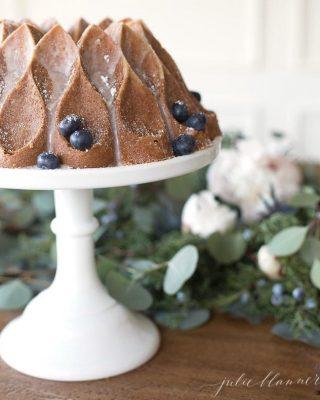 beautiful winter or Christmas dessert | cinnamon bundt cake