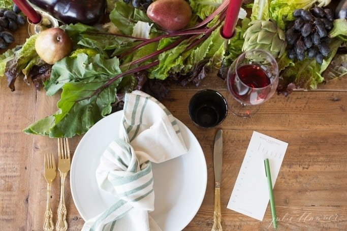 lifestyle blogger Julie Blanner shares effortless entertaining ideas