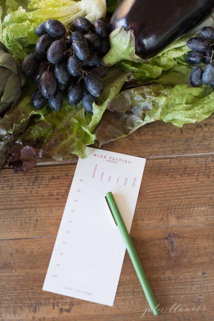 free printable wine tasting cards