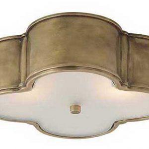raw brass flush mount light fixture