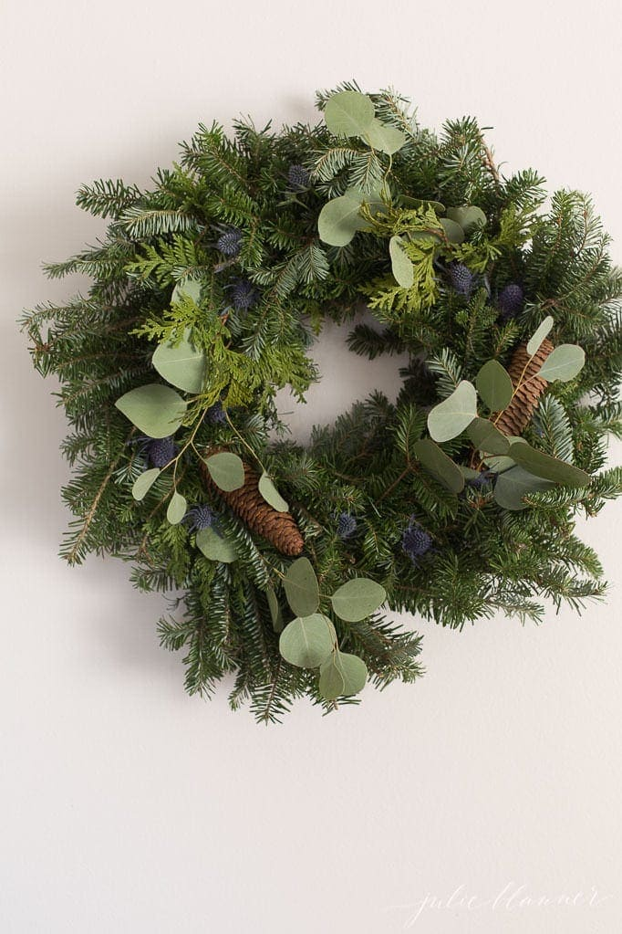 how to update an inexpensive Christmas wreath