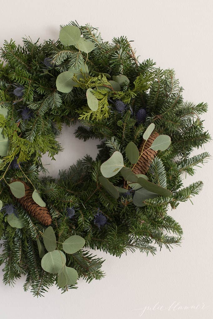 christmas wreath decorations to enhance a basic wreath