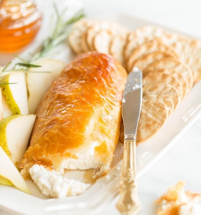 goat cheese and honey