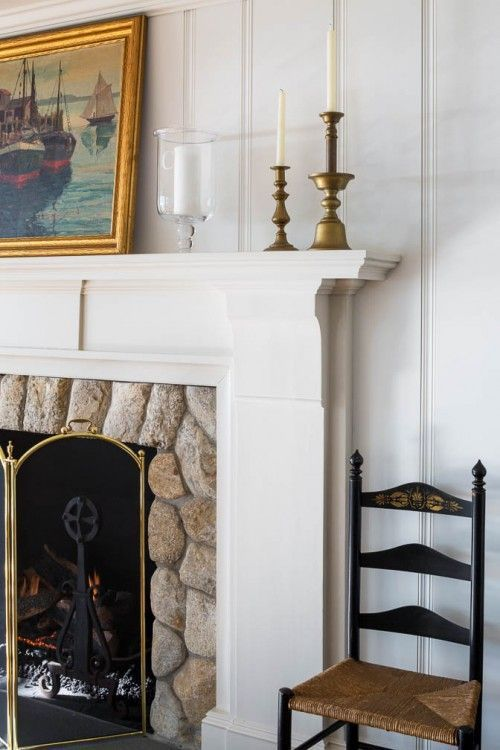 patrick ahearn stone fireplace mantel