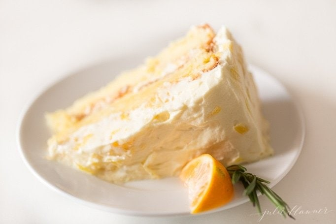 slice of mandarin orange cake