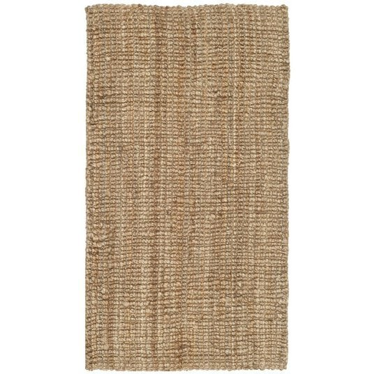 small jute area rug for entryway or kitchen