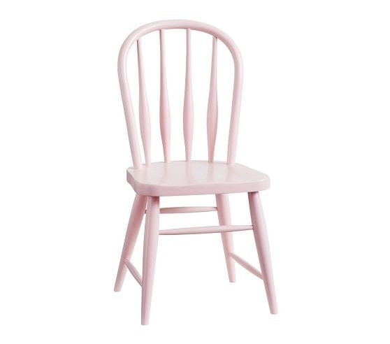 pink kids farmhouse chairs for play