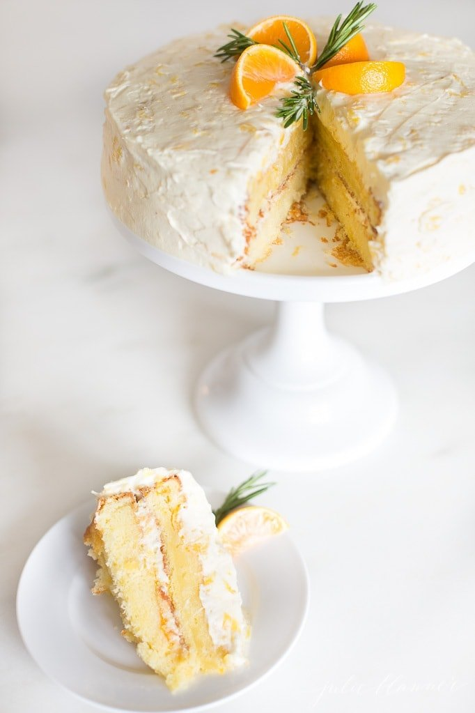 mandarin orange cake slice