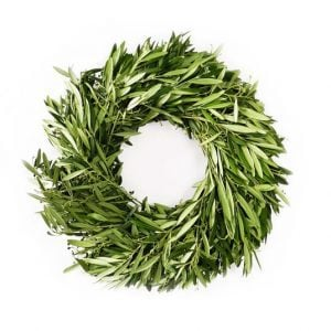 fresh olive wreath
